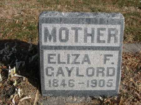 GAYLORD, ELIZA F. - Dawes County, Nebraska | ELIZA F. GAYLORD - Nebraska Gravestone Photos