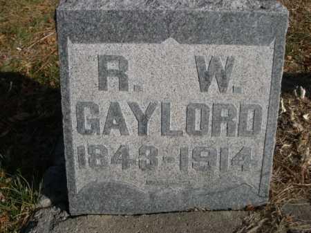 GAYLORD, R. W. - Dawes County, Nebraska | R. W. GAYLORD - Nebraska Gravestone Photos