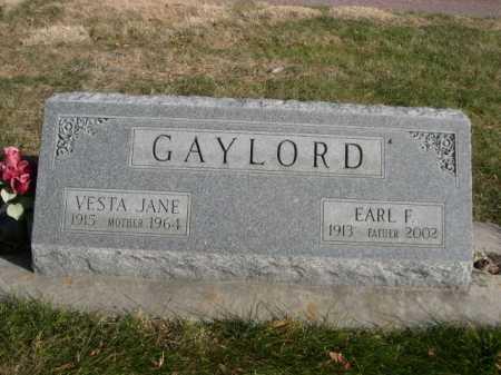 GAYLORD, VESTA JANE - Dawes County, Nebraska | VESTA JANE GAYLORD - Nebraska Gravestone Photos
