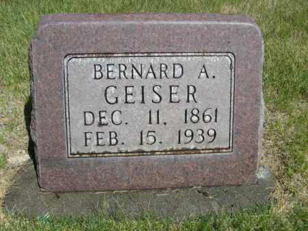 GEISER, BERNARD A. - Dawes County, Nebraska | BERNARD A. GEISER - Nebraska Gravestone Photos