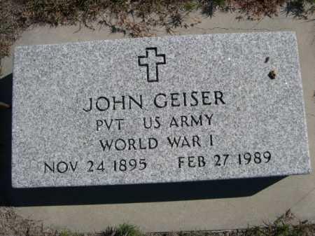 GEISER, JOHN - Dawes County, Nebraska | JOHN GEISER - Nebraska Gravestone Photos