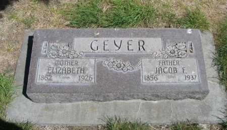 GEYER, ELIZABETH - Dawes County, Nebraska | ELIZABETH GEYER - Nebraska Gravestone Photos