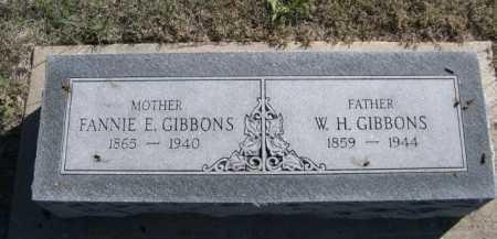 GIBBONS, W. H. - Dawes County, Nebraska | W. H. GIBBONS - Nebraska Gravestone Photos