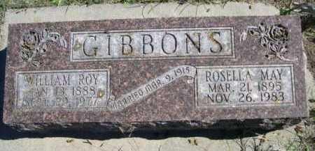 GIBBONS, WILLIAM ROY - Dawes County, Nebraska | WILLIAM ROY GIBBONS - Nebraska Gravestone Photos