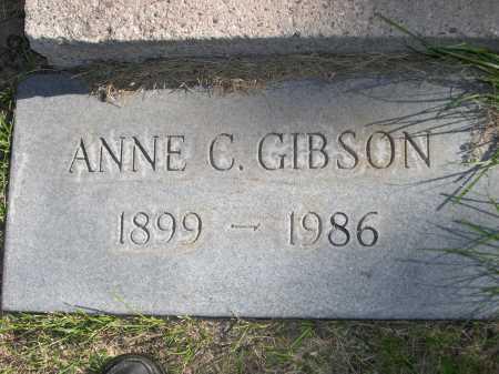 GIBSON, ANNE C. - Dawes County, Nebraska   ANNE C. GIBSON - Nebraska Gravestone Photos