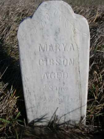 GIBSON, MARY A. - Dawes County, Nebraska | MARY A. GIBSON - Nebraska Gravestone Photos