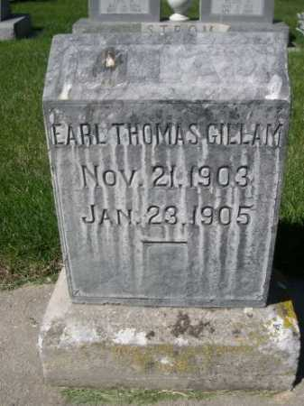 GILLAM, EARL THOMAS - Dawes County, Nebraska | EARL THOMAS GILLAM - Nebraska Gravestone Photos