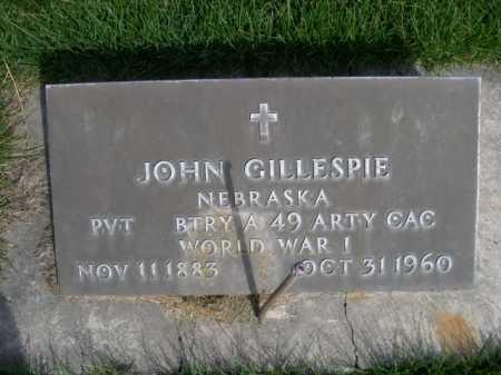 GILLESPIE, JOHN - Dawes County, Nebraska | JOHN GILLESPIE - Nebraska Gravestone Photos