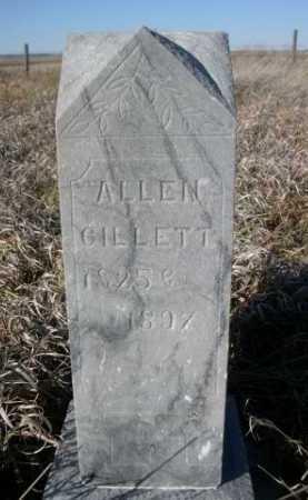 GILLETT, ALLEN - Dawes County, Nebraska | ALLEN GILLETT - Nebraska Gravestone Photos