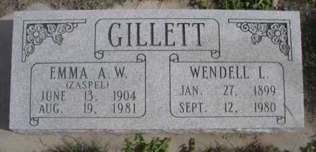 GILLETT, WENDELL L. - Dawes County, Nebraska | WENDELL L. GILLETT - Nebraska Gravestone Photos