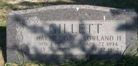GILLETT, ROWLAND H. - Dawes County, Nebraska | ROWLAND H. GILLETT - Nebraska Gravestone Photos