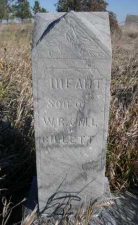 GILLETT, INFANT SON OF W.R. & M.L. - Dawes County, Nebraska   INFANT SON OF W.R. & M.L. GILLETT - Nebraska Gravestone Photos