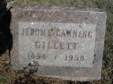GILLETT, JEROME CANNING - Dawes County, Nebraska | JEROME CANNING GILLETT - Nebraska Gravestone Photos