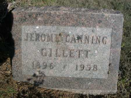 GILLETT, JEROME CANNING - Dawes County, Nebraska | JEROME CANNING GILLETT - Nebraska Gravestone Photos