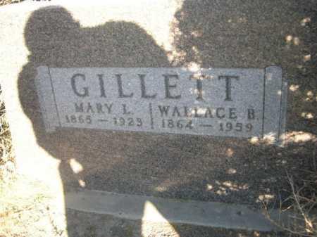 GILLETT, WALLACE B. - Dawes County, Nebraska | WALLACE B. GILLETT - Nebraska Gravestone Photos
