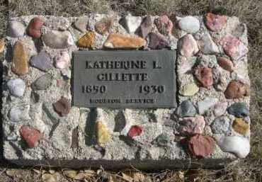 GILLETTE, KATHERINE L. - Dawes County, Nebraska | KATHERINE L. GILLETTE - Nebraska Gravestone Photos