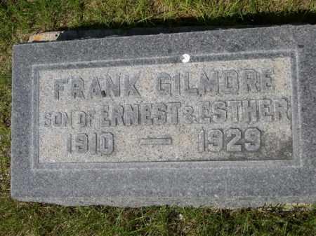 GILMORE, FRANK - Dawes County, Nebraska | FRANK GILMORE - Nebraska Gravestone Photos