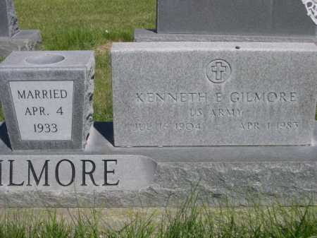 GILMORE, KENNETH E. - Dawes County, Nebraska   KENNETH E. GILMORE - Nebraska Gravestone Photos