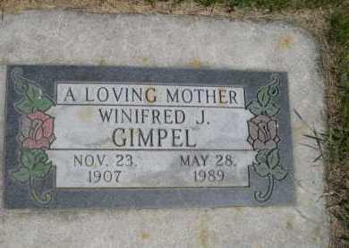 GIMPEL, WINIFRED J. - Dawes County, Nebraska | WINIFRED J. GIMPEL - Nebraska Gravestone Photos