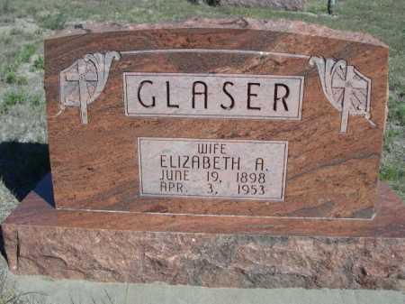 GLASER, ELIZABETH A. - Dawes County, Nebraska | ELIZABETH A. GLASER - Nebraska Gravestone Photos
