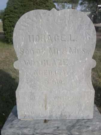 GLAZE, HORACE - Dawes County, Nebraska   HORACE GLAZE - Nebraska Gravestone Photos
