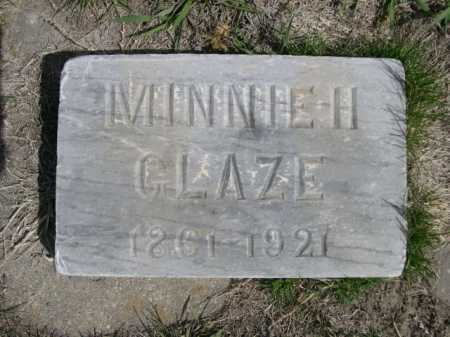 GLAZE, MINNIE H. - Dawes County, Nebraska | MINNIE H. GLAZE - Nebraska Gravestone Photos