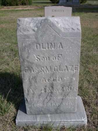 GLAZE, OLLIN A. - Dawes County, Nebraska   OLLIN A. GLAZE - Nebraska Gravestone Photos