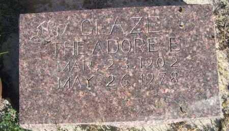 GLAZE, THEADORE E. - Dawes County, Nebraska | THEADORE E. GLAZE - Nebraska Gravestone Photos
