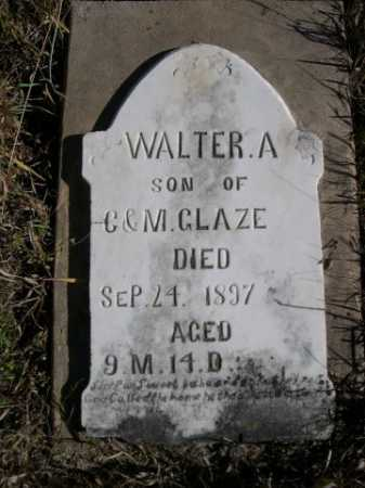 GLAZE, WALTER A. - Dawes County, Nebraska | WALTER A. GLAZE - Nebraska Gravestone Photos