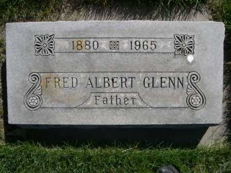 GLENN, FRED ALBERT - Dawes County, Nebraska | FRED ALBERT GLENN - Nebraska Gravestone Photos