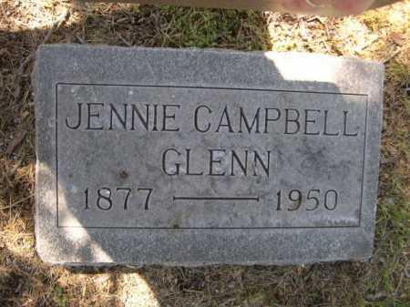 CAMPBELL GLENN, JENNIE - Dawes County, Nebraska | JENNIE CAMPBELL GLENN - Nebraska Gravestone Photos