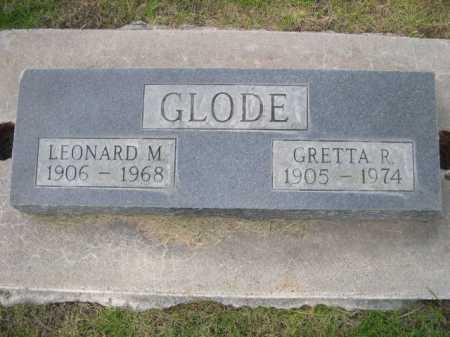 GLODE, LEONARD M. - Dawes County, Nebraska | LEONARD M. GLODE - Nebraska Gravestone Photos