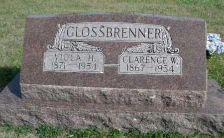 GLOSSBRENNER, CLARENCE W. - Dawes County, Nebraska   CLARENCE W. GLOSSBRENNER - Nebraska Gravestone Photos