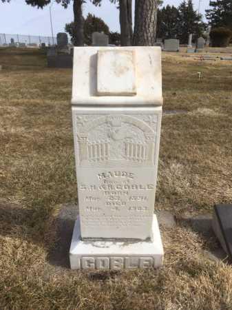 GOBLE, MAUDE - Dawes County, Nebraska | MAUDE GOBLE - Nebraska Gravestone Photos