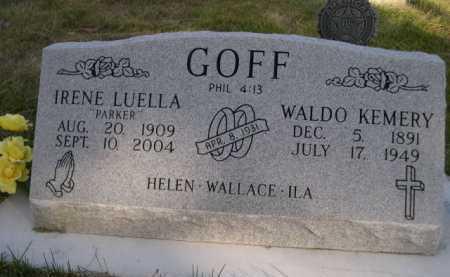 PARKER GOFF, IRENE LUELLA - Dawes County, Nebraska | IRENE LUELLA PARKER GOFF - Nebraska Gravestone Photos