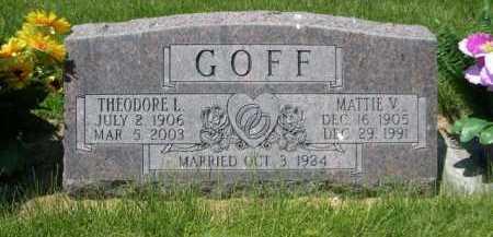 GOFF, MATTIE V. - Dawes County, Nebraska | MATTIE V. GOFF - Nebraska Gravestone Photos