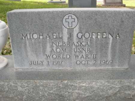 GOFFENA, MICHAEL J. - Dawes County, Nebraska   MICHAEL J. GOFFENA - Nebraska Gravestone Photos