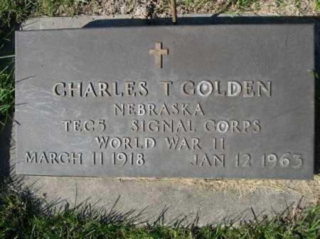 GOLDEN, CHARLES T. - Dawes County, Nebraska | CHARLES T. GOLDEN - Nebraska Gravestone Photos