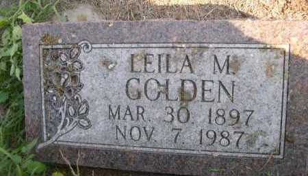 GOLDEN, LEILA M. - Dawes County, Nebraska | LEILA M. GOLDEN - Nebraska Gravestone Photos