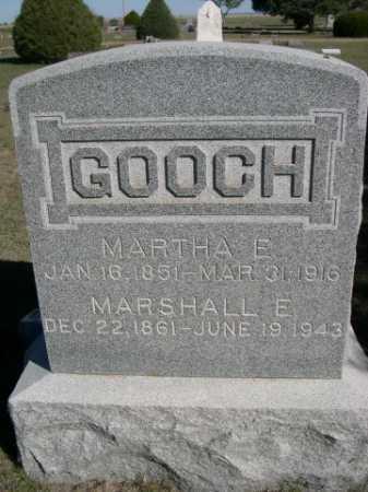 GOOCH, MARTHA E. - Dawes County, Nebraska   MARTHA E. GOOCH - Nebraska Gravestone Photos