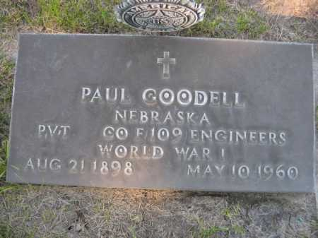GOODELL, PAUL - Dawes County, Nebraska | PAUL GOODELL - Nebraska Gravestone Photos