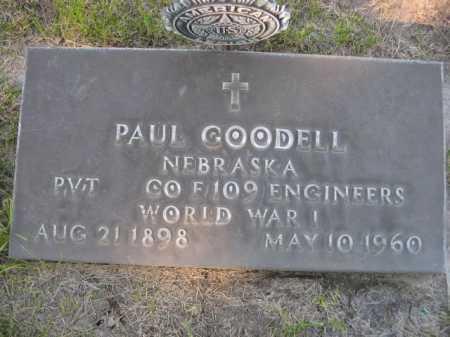 GOODELL, PAUL - Dawes County, Nebraska | PAUL GOODELL - Nebraska Gravestone Photos
