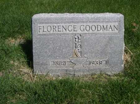 GOODMAN, FLORENCE - Dawes County, Nebraska   FLORENCE GOODMAN - Nebraska Gravestone Photos