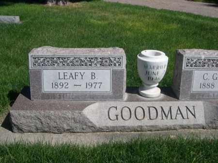 GOODMAN, LEAFY B - Dawes County, Nebraska   LEAFY B GOODMAN - Nebraska Gravestone Photos