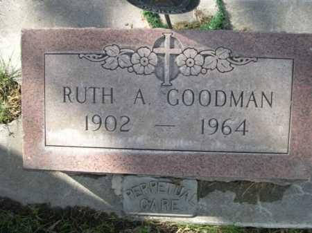 GOODMAN, RUTH A - Dawes County, Nebraska | RUTH A GOODMAN - Nebraska Gravestone Photos