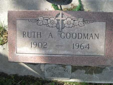 GOODMAN, RUTH A - Dawes County, Nebraska | RUTH A GOODMAN - Nebraska Gravestone Photos
