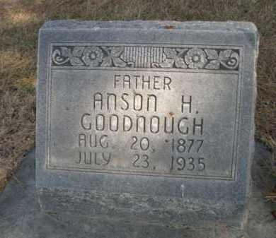GOODNOUGH, ANSON H. - Dawes County, Nebraska   ANSON H. GOODNOUGH - Nebraska Gravestone Photos