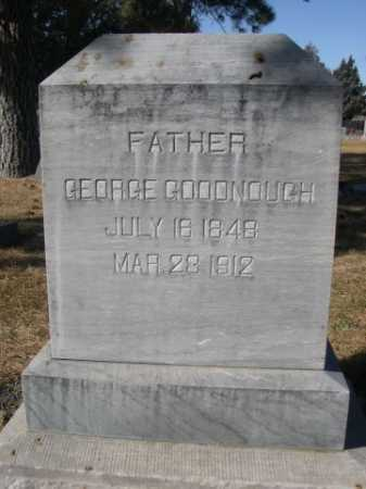 GOODNOUGH, GEORGE - Dawes County, Nebraska   GEORGE GOODNOUGH - Nebraska Gravestone Photos