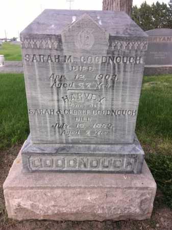 GOODNOUGH, SARAH M. - Dawes County, Nebraska | SARAH M. GOODNOUGH - Nebraska Gravestone Photos