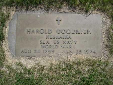 GOODRICH, HAROLD - Dawes County, Nebraska   HAROLD GOODRICH - Nebraska Gravestone Photos